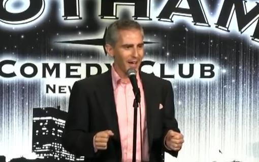 Tony Martignetti performing at the Gotham Comedy Club