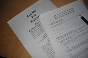 Photo of a Last Will And Testament
