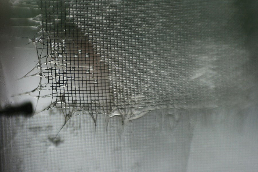 Torn window screen