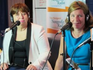 Vikki Jones (l) & Christine Hughes at Fundraising Day 2014